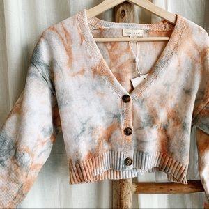 HONEY PUNCH Tie Dye Cropped Sweater